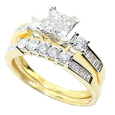 Image Unavailable. Image not available for. Color  Midwest Jewellery 10K Yellow  Gold Bridal Set ... 39de11c6f