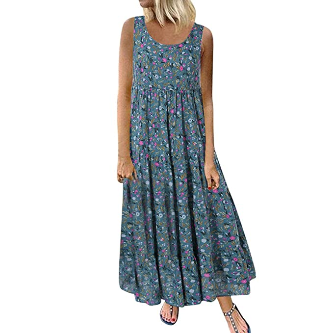 Plus Size Short Sleeve Long Womens Sundress Loose Party Shirt Evening Maxi Dress
