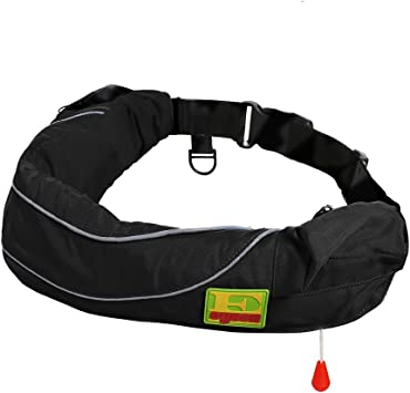 Auto//Manual Inflatable Belt Waist Life Jacket Ring PFD Sailing Boating  !