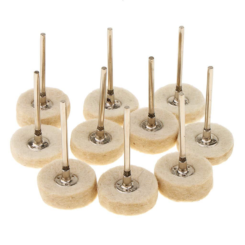 P Prettyia 10 Stü cke Polierscheibe Polieren Pad fü r Energie/Batterie Poliermaschine Schwabbelscheibe - 1
