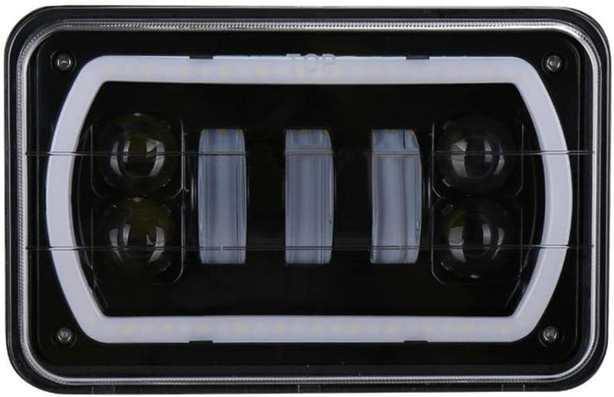 Starnearby 1pc 6x4in 45W LED Proyector Faro DRL para Jeep Wrangler YJ Cherokee XJ!!