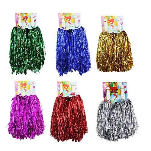 (1 Dozen Cheerleading Pom Poms, CRIVERS 12pc Cheerleader Pompoms for Ball Dance Fancy Dress Night Party Sports)