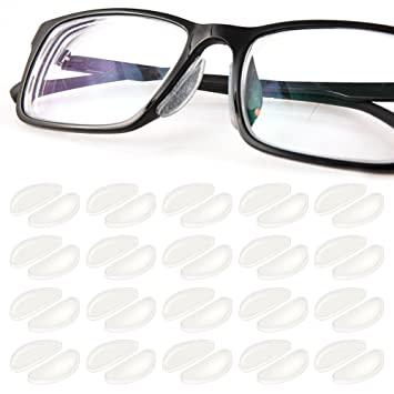 7f757173f63 1mm Eyeglasses Nose Pads Glasses Adhesive Silicone Nose Pads 20Pairs  Anti-Slip Eyeglass Nosepads Non