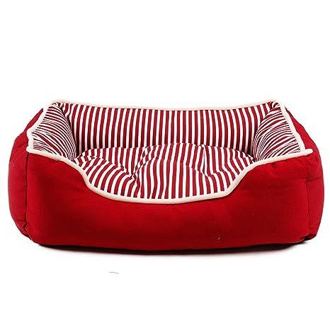 LLYU Nido del Animal doméstico diseño de Franjas PP algodón Acolchado Cama para Perros Cama para
