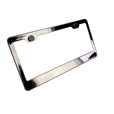 KA LEGEND Black Smoke Chrome Titanium Gun Metal T304 Stainless Steel License Plate Frame Holder Front Or Rear Bracket: Automotive