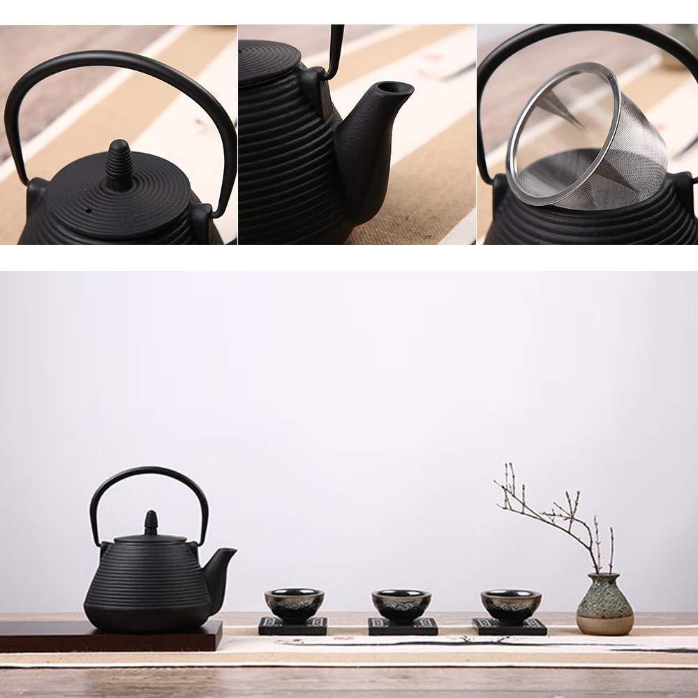TOWA Workshop Japanese Tetsubin Tea Kettle Cast Iron Teapot with Stainless Steel Infuser (900ml)