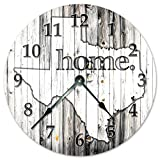 TEXAS STATE HOME CLOCK Huge 15.5″ to 16″ Wall Clock Black and White Rustic Clock Review