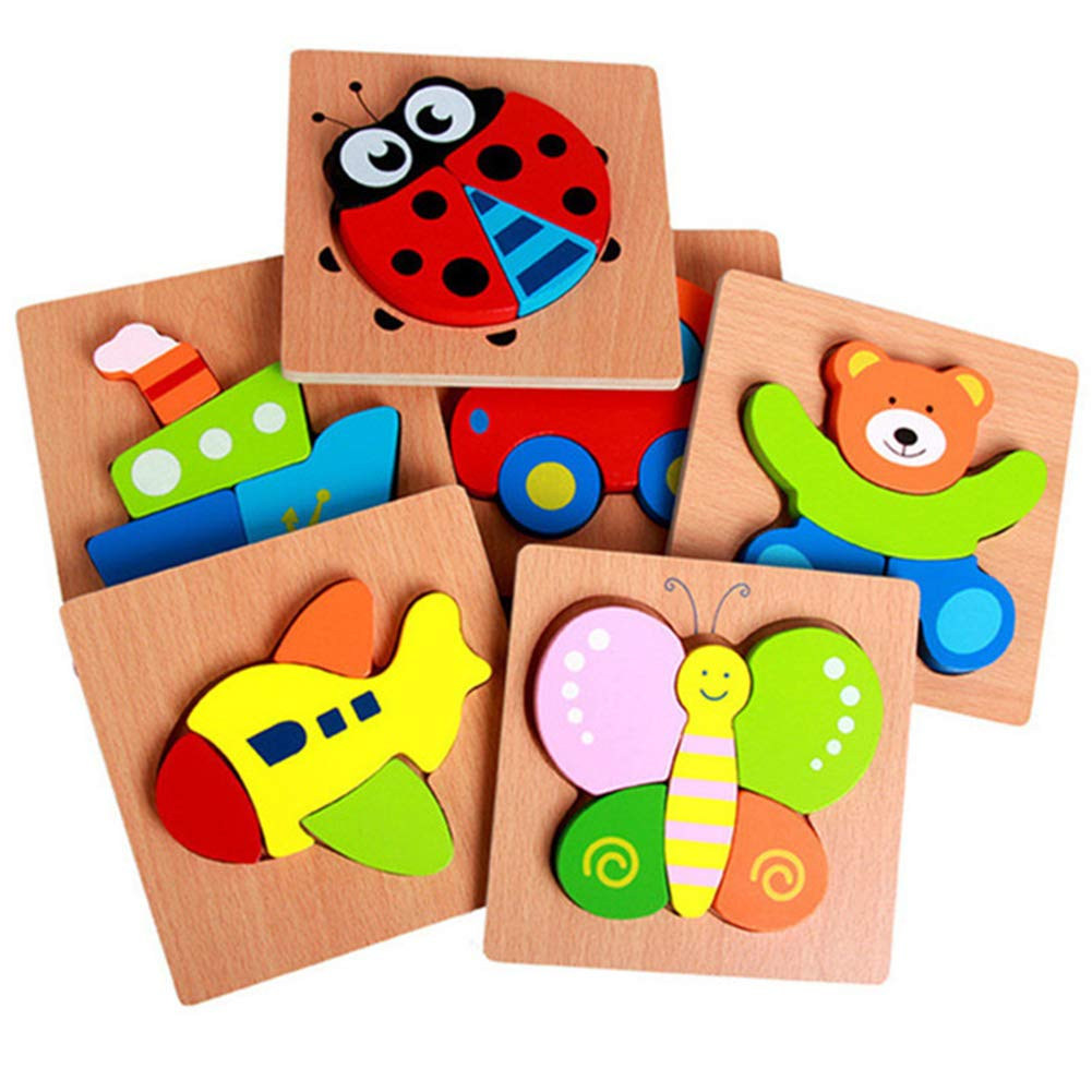 4 Puzzles Bright Vibrant Colors Matching Coloring Book Bag Gift Box Wooden Vehicle Puzzles for Toddlers 1 2 3 4 Year Old Girls /& Boys Eco-Friendly Educational Learning Toys Sensory Toys