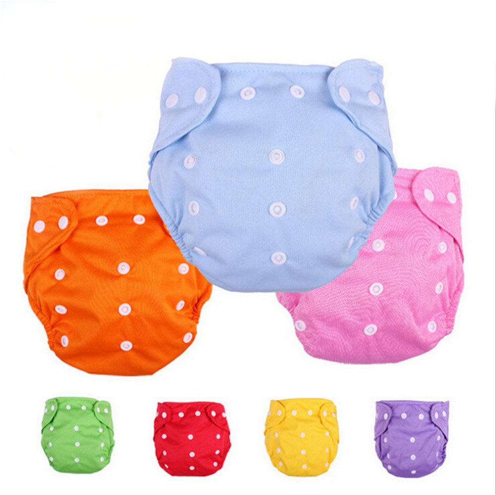 CSKB Baby Washable Reusable Cloth Diapers, 7pcs by CSKB