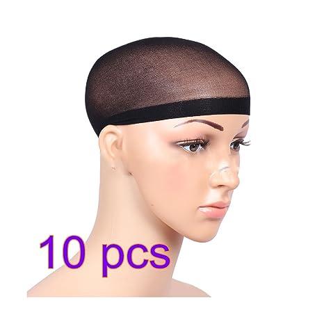 10X CAOLATOR Peluca Caps Redecillas de Peluca Pelucas Accesorios Usar Pelucas Herramientas Esenciales-Negro