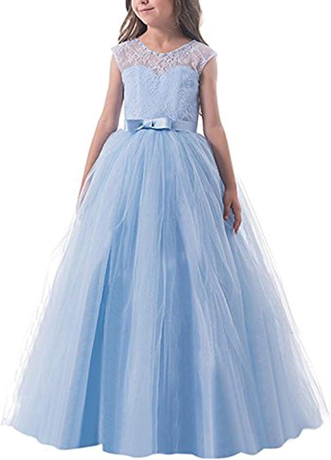 Ttyaovo Madchen Festzug Ballkleider Kinder Chiffon Bestickt Hochzeit Kleid Madchen Kinder