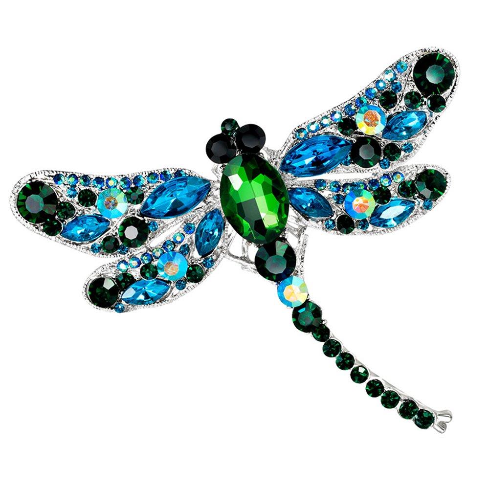 4cb04ac80 Grace Womens Winged Butterfly Swarovski Crystal Rhinestones Brooch Pin 1 ...