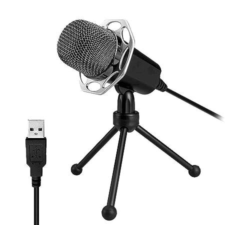 CHSSC Micrófono For PC Micrófono De Condensador USB con Soporte ...