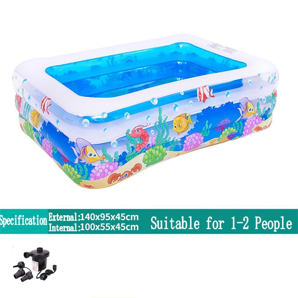 oferta de tienda Bañera Piscina inflable de la piscina piscina piscina de la piscina de la bañera / de la piscina Piscina infantil de la bola del mar para el niño / bebé / la familia con el pie / la bomba eléctrica Conveniente para 1-2 personas (140  9  cómodo