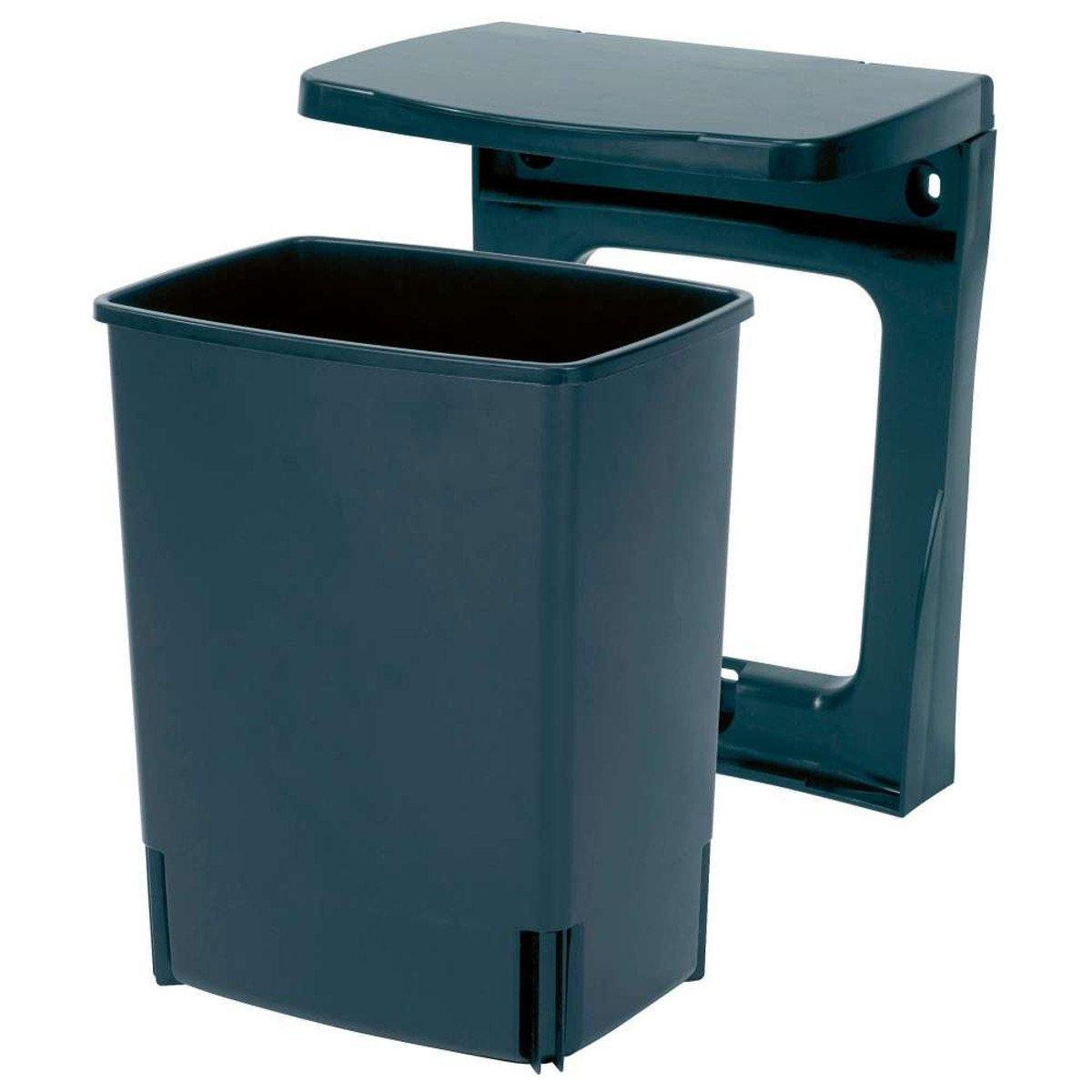 Brabantia 395246 - Cubo Interior de Plástico, 10 litros, Color Negro