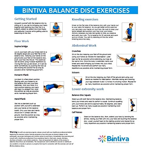 Balance Board Exercises For Back: Inflated Stability Wobble Cushion / Exercise Fitness Core