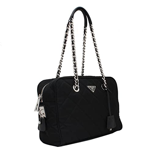b0844a38ef5b Prada Tessuto Impuntu Bauletto Quilted Nylon Chain Shoulder Bag BL0903,  Black/Nero: Amazon.ca: Shoes & Handbags