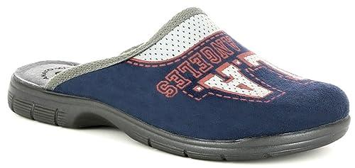 premium selection 6e2d2 84697 INBLU Pantofole Ciabatte da Ragazzo Invernali MOD. AT-22 Blu ...
