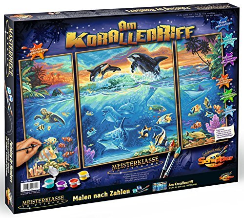 Schipper At Coral Reef Triptych Paint by Numbers Painting Set (Multi-Colour) by Noris Spiele
