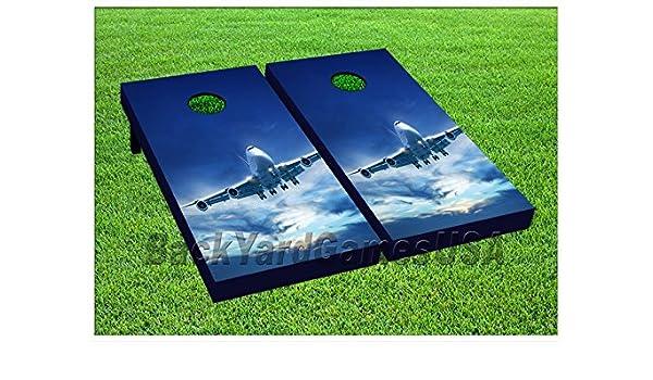 Amazon com : AIRPLANE Custom Cornhole Boards Bags BEANBAG