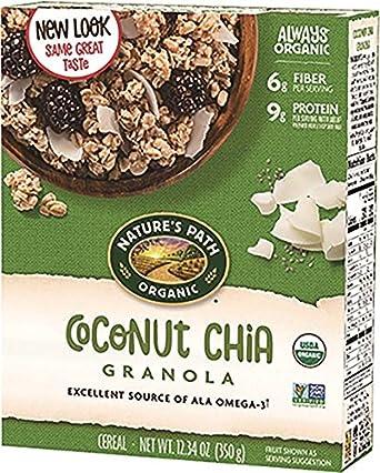 Granola con semillas de chía, chía de coco ...