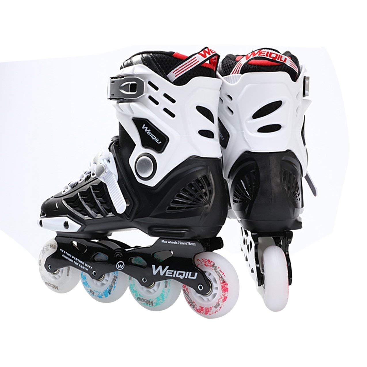 1 Paar Skates 8 Räder Full Flash LED Rad Skates Phantasie Gerade Erwachsene Rollschuhe Professionelle Männer Und Frauen Skates Schuhe