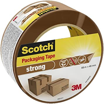 """2/"""" 6 ROLLS OF STRONG BROWN PACKING TAPE 48mm x 92m - Big Rolls Parcel Tape"""