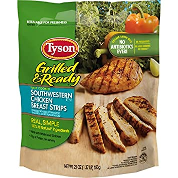 Tyson Grilled And Ready Southwestern Chicken Strips 22 Ounce