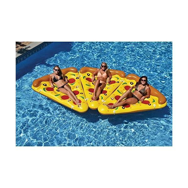 YGJT Piscina Galleggiante Pizza Gigante Slice Pool Letto Galleggiante Cuscino Gonfiabile del PVC per Lo Sport Acquatico… 5 spesavip