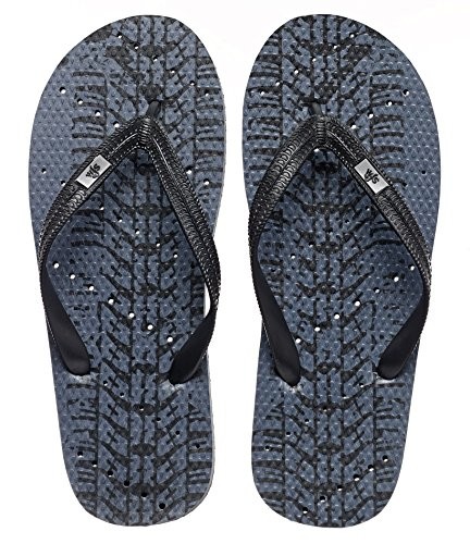 Showaflops Boys' Antimicrobial Shower & Water Sandals for Pool, Beach, Camp and Gym - Tire Tracks 5/6