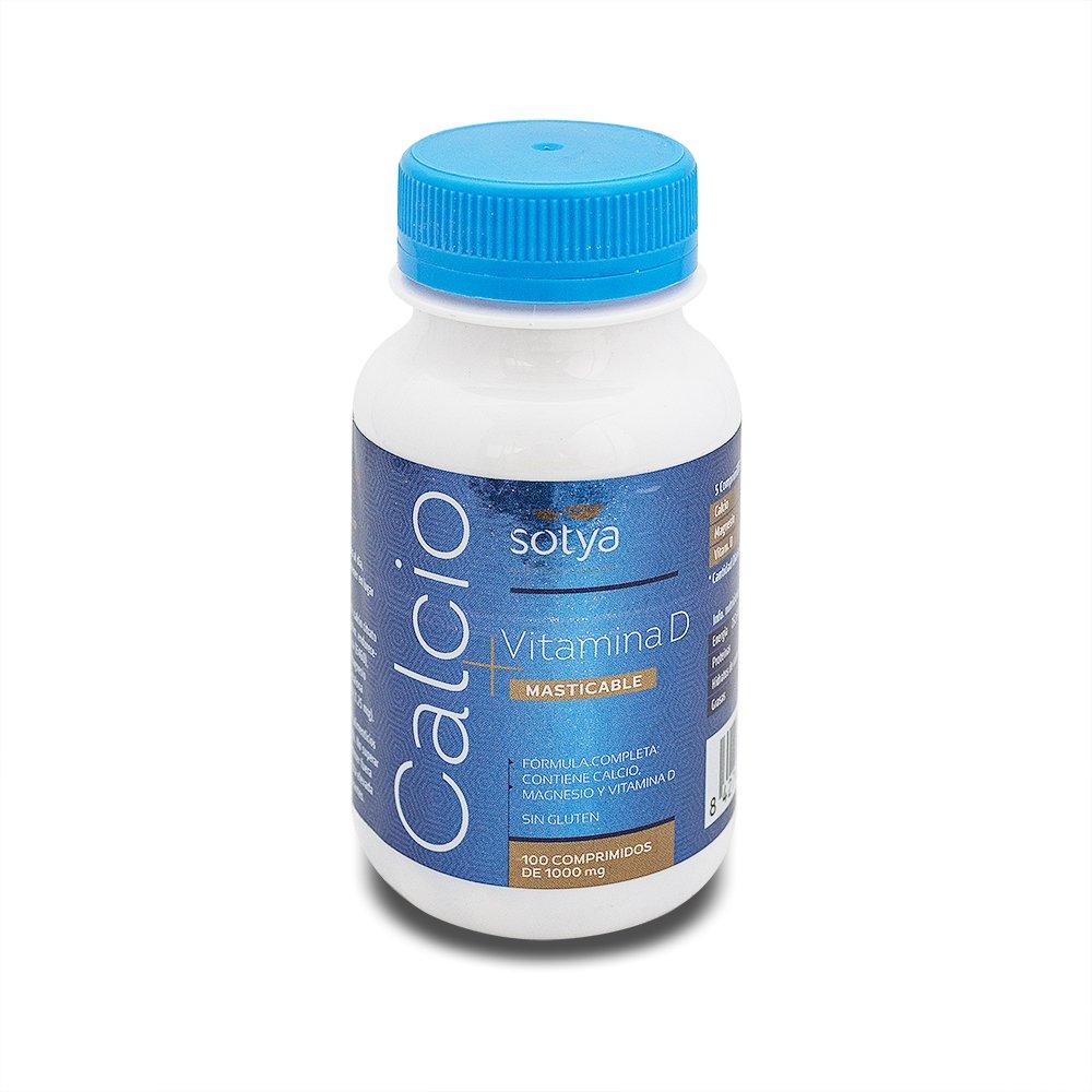 SOTYA Calcio - Vit.D-3 100 comprimidos masticables 1gr: Amazon.es: Salud y cuidado personal