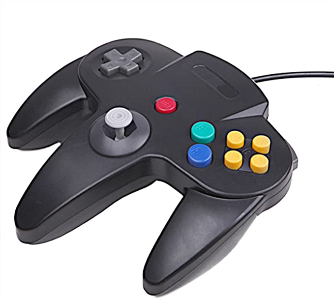 HDE Classic Wired Long Handle Gaming Controller for Nintendo 64 ...