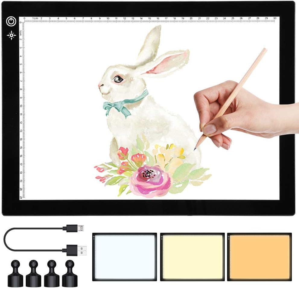 SAMTIAN A4 Light Box Three-Color LED Copy Board WAS £29.99 NOW £14.99 w/code DYY6D4QA @ Amazon