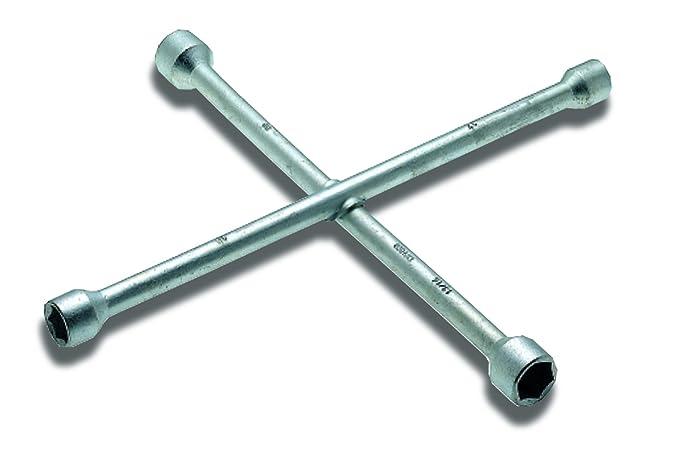 Llave de cruceta para ruedas de camión 24x27x32x36 mm I Ø 22 mm I WGB Das Werkzeug I No.9476 I Llave de cruceta para ruedas de camión I Acero al ...