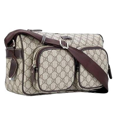 ae2bdd313c3b2a Amazon.com: Gucci Men's GG Plus Beige/Ebony Canvas Shoulder Bag ...