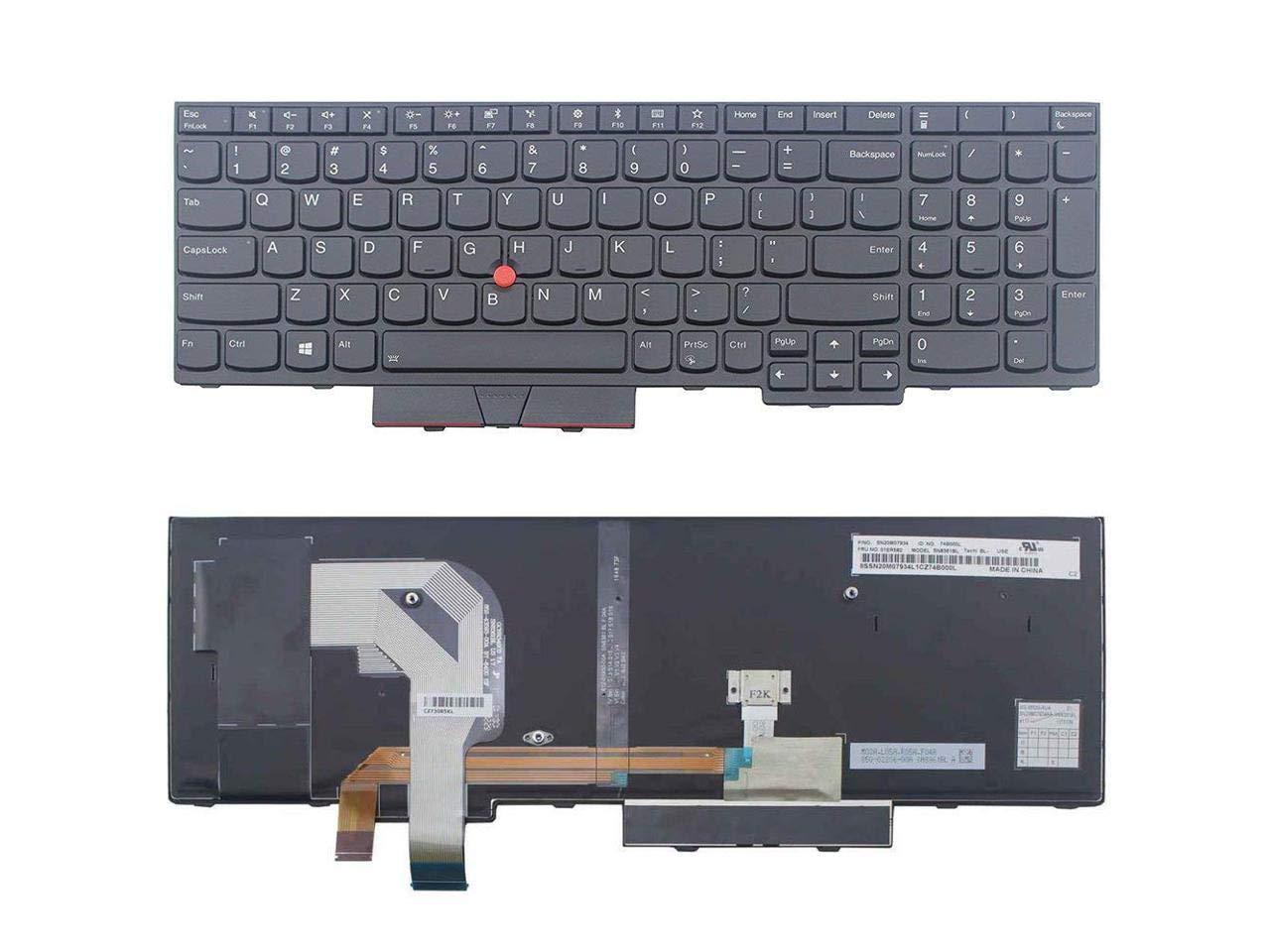 New for lenovo IBM Thinkpad T580 series laptop US Black keyboard non-backlit