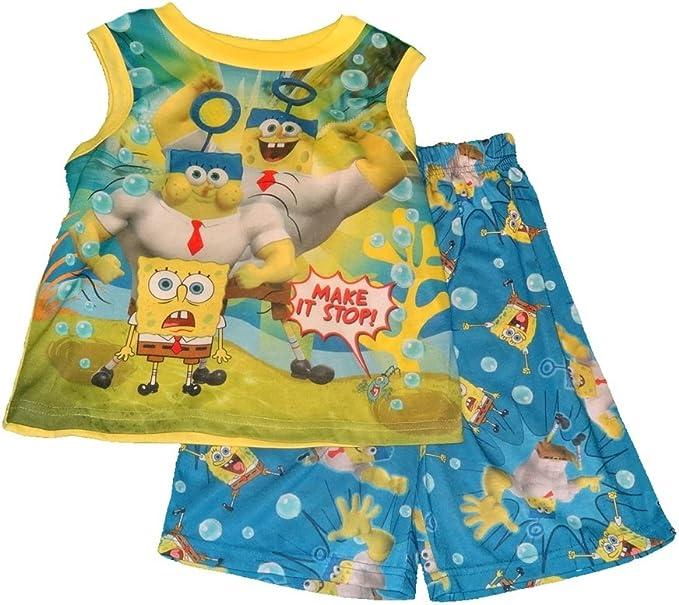 2 Spongebob Squarepants Lets Roller Disco Pajama Sleepwear Two Piece Set