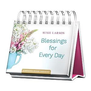 DaySpring Flip Calendar - Susie Larson - Blessings for Every Day, White - 49911
