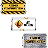 Under Construction Party Favors - Miniatures Candy Bar Wrapper Stickers (54 Count)