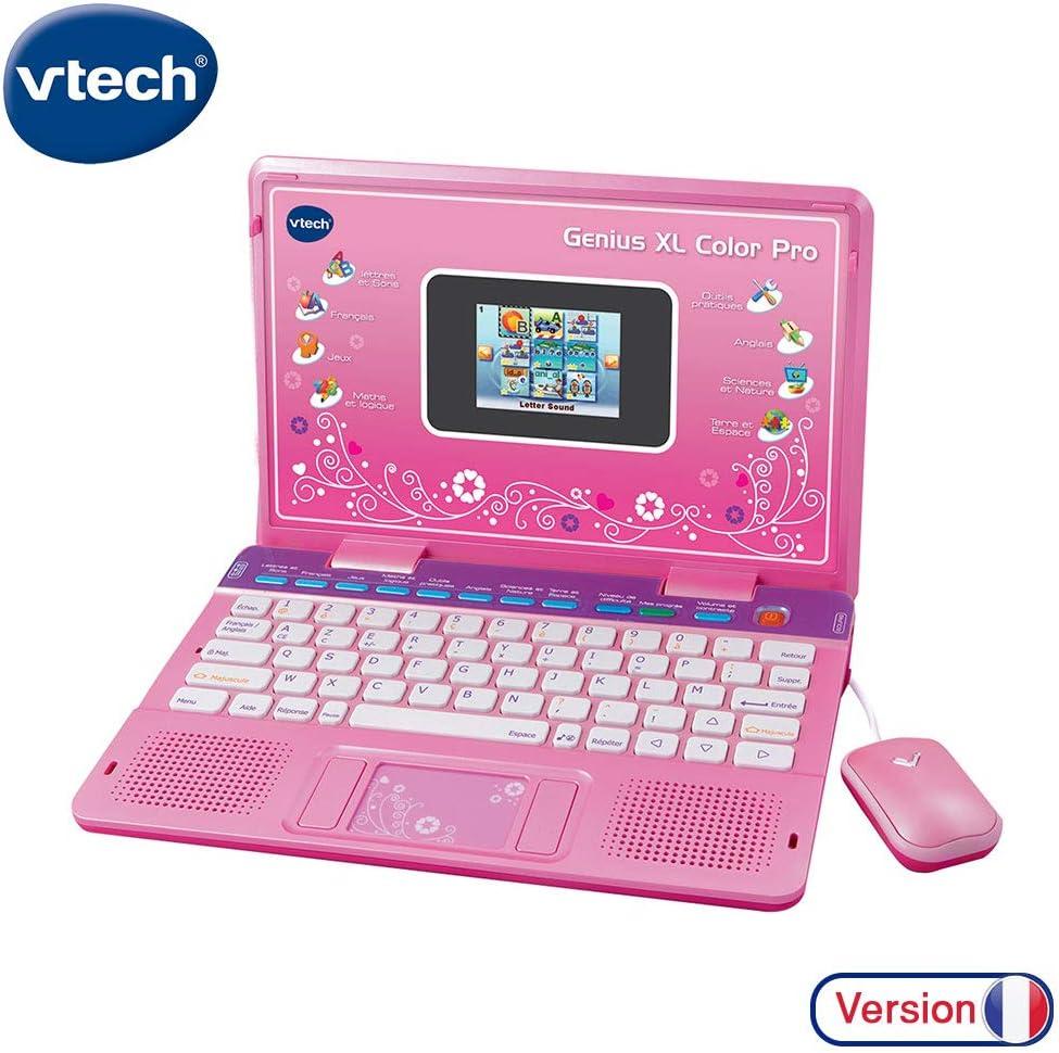 VTech - Genius Color XL Pro Bilingüe, Computer Kid, Rose (133865) (versión en frances)