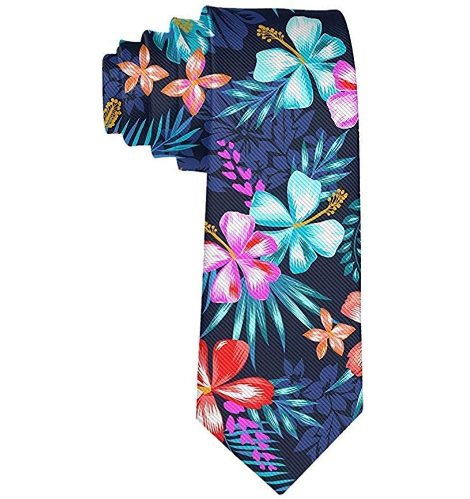 Cravatta da uomo con fiori colorati tropicali Palma lascia ...