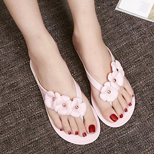 dedos Sandalias pies de dos para rosa de sandalias playa flips de flips planas Xiaogee los XIAOGEGE zapatos verano qFwnWXxnA