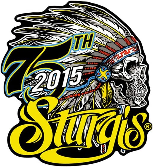 Sturgis Motorcycle Rally 2015 Sew On Patch  75th Anniversary Historic Classic