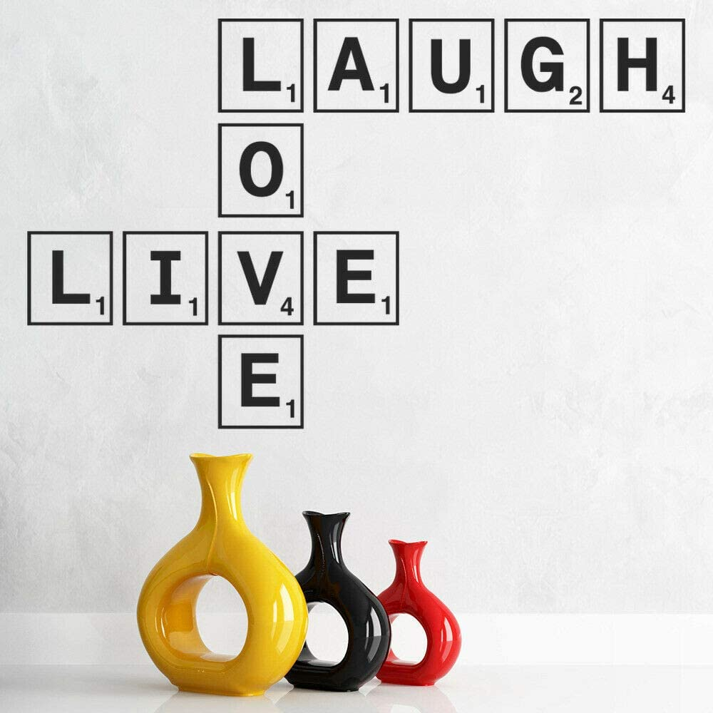 wangpdp Live Laugh Love Scrabble Tile Wall Sticker Dormitorio Vinilo Tatuajes de Pared Habitación para niños Decoración del hogar Accesorios para Sala de estar42x67 cm: Amazon.es: Hogar