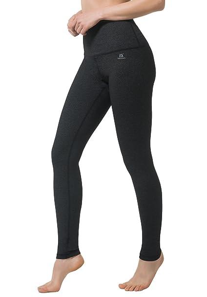 4f005a585 Matymats Women s High Waist Yoga Capri Pants Tummy Control Workout Running  Crop Leggings Inner Pockets (