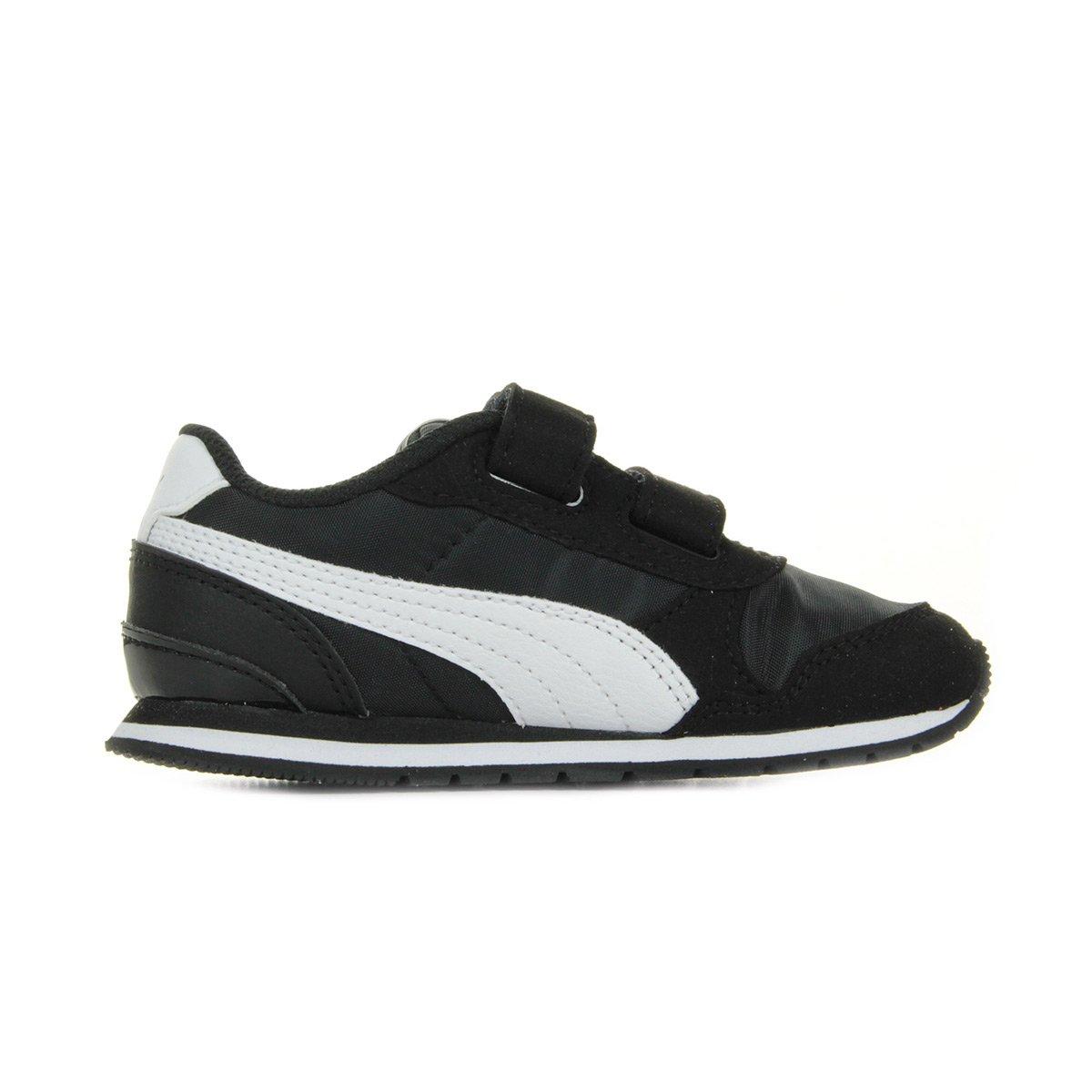 01 Nl V2 Noir Basses Sneakers Inf Puma St White Runner Eu 24 Black Mixte Enfant V A7wfx
