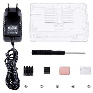 Zacro 3-EN-1 Kit - Kit para Raspberry Pi 3 Modelo B Caja, Cargador y Incluye el Disipador de Calor