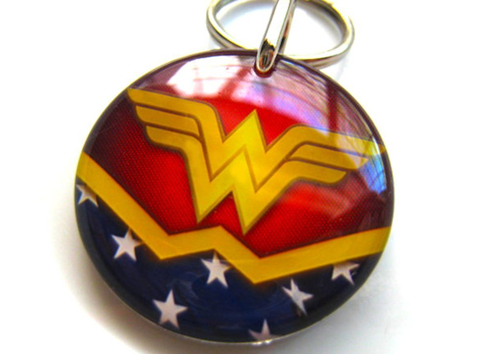 Pet ID Tags Dog Tags Cat Pet Tags Wonder Woman (Small 1'')