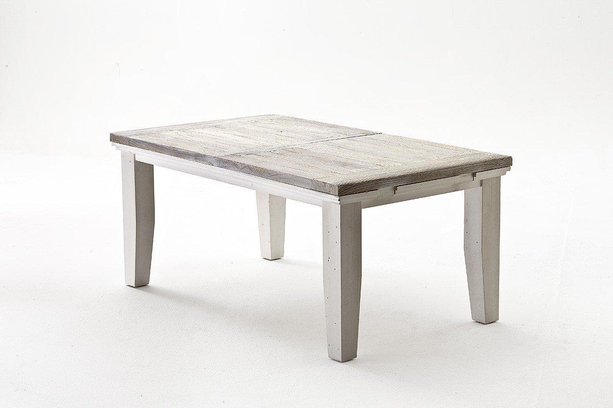 Dreams4Home Tisch massiv \' Juno \', in antik weiß , Esszimmer ...