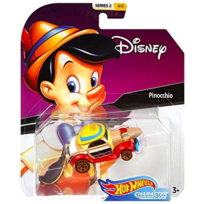 Pinocchio Hot Wheels Disney Character Cars Diecast Car 1:64 Scale: Toys & Games